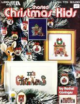 CHRISTMAS KIDS in Cross Stitch Leisure Arts Leaflet 175 Vintage 1980 Designs - $2.96