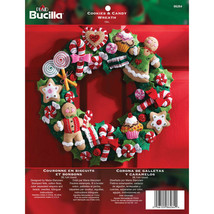 Bucilla - 'Cookies and Candy Wreath' Felt Applique Embroidery Kit - 86264 - $35.99