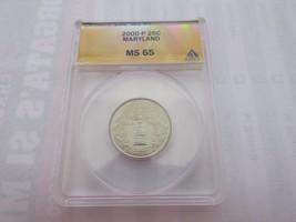 2000-P , Washington Quarter , Maryland , ANACS , MS 65 - $10.00