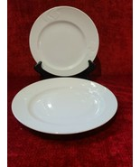 "Rosenthal Asymmetria White Set of 2 Salad Plates 8 1/8"" - $22.76"
