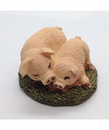 Miniature PIG DUO Figurine Farm Animal Diorama Mini Garden Dollhouse - $6.10