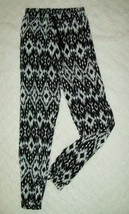 Girls Palazzo Pants Size 10 12 Black White Loose Cinched Hem Casual School  - $17.81