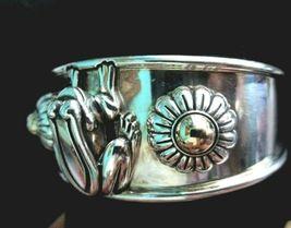 Barry Kieselstein Cord Frog & Flowers Cuff Bracelet Sterling & 14K Gold Orig Box image 7