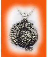 Thanksgiving Turkey Sterling Silver Pendant - $163.63