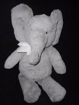 "PBK Pottery Barn Kids Elephant Plush Stuffed Animal 17"" Grey White Bow - $29.58"