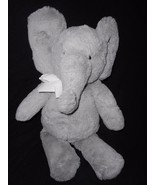 "PBK Pottery Barn Kids Elephant Plush Stuffed Animal 17"" Grey White Bow - $29.58"