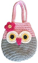Sarah & Victoria Happy Owl Mini Purse, Adorable Pink & Grey First - $19.98
