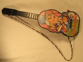 Vintage Captain Kangaroo Guitar 1968 Mattel Plastic Music Maker Toy [Z211] - $29.90