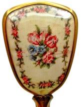 """Vintage 10"""" Floral/Flowers Hair Brush - $15.95"""