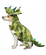THRILLS & CHILLS HALLOWEEN DINOSAUR TRICERATOPS RAPTOR DOG COSTUME SMALL... - $12.99