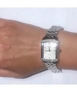 Heavy 925 ECCLISSI Diamonds Sterling Silver Ladies 70g!! Heavy Wristwatc... - $505.40