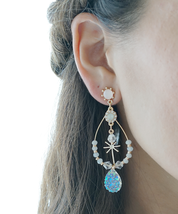 Pastel Korean Earrings, Kpop Earrings, Blackpink Lisa Style Earrings, Twice - $17.70