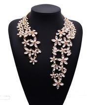 2019 Spring Summer Hot Fashion Jewelry Gem Crystal Flower Choker Necklac... - $25.93