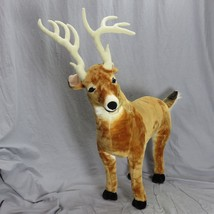"Deer Melissa & Doug Giant Stuffed Toy Animal 38"" Tall Jumbo Plush Ages 3... - $78.21"