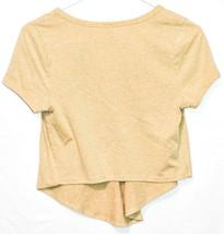 Maypink May Pink Women's Heathered Dijon Yellow V-Neck Short Sleeve Shirt Size M image 2