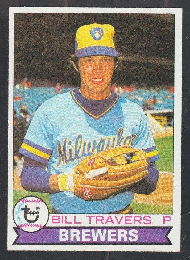 Milwaukee Brewers Bill Travers 1979 Topps Baseball Card 213