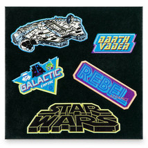 WDW DISNEY STAR WARS ADHESIVE PATCHES SET OF FIVE GLOW IN THE DARK BRAND... - $9.99