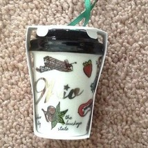 Starbucks Ohio Christmas Ornament 2017 Holiday Porcelain Coffee Cup Stat... - $27.01
