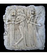 Egyptian Dancing Girls Sculpture Relief plaque Replica Reproduction - $24.74