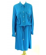 New Ralph Lauren Plus Size 22W Turquoise Silk-Look Dress - $49.99