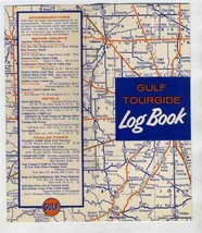 GULF Oil Company Tourgide Log Book 1950's Travel Records - $14.81
