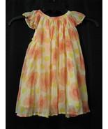 BABY GAP GIRL DRESS SPRING EASTER FLORAL PLEATED FLUTTER SLEEVE FLORAL 1... - $19.79