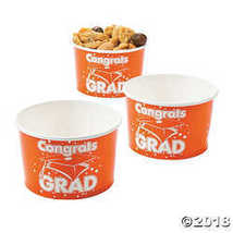 Orange Congrats Grad Snack Bowls  - $15.36