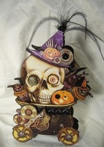 Bethany Lowe Skeleton Steampunk Halloween Treat Candy Container - $20.99