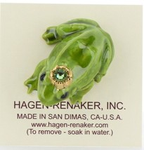 Birthstone Frog Prince August Simulated Peridot Miniatures by Hagen-Renaker image 2