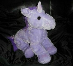 "18"" BIG GEOFFREY 2012 TOYS R US PURPLE HORSE UNICORN STUFFED ANIMAL PLUS... - $36.47"