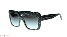 Dolce Gabbana Sunglasses DG4310 31268G White on Black/Grey Gradient Lens... - $163.93