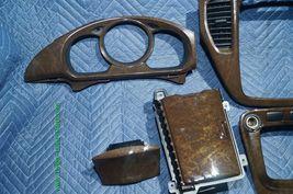 01-07 Toyota Highlander Woodgrain Dash Trim Kit Vents Console 8pc image 4