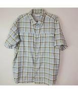 Columbia Mens Plaid Button Down Fishing Hiking SS Shirt Size XL Vented - $29.68