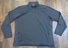 Nike Dri-Fit Gray Quarter Zip Pullover Men's Size XXL Excellent Pre-Owned Cond - $19.99