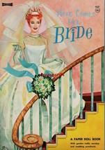 VINTAGE UNCUT 1967 HERE COMES THE BRIDE PAPER DOLLS~#1 REPRODUCTION~PRETTY - $18.25
