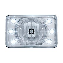 """United Pacific 4"""" x 6"""" Crystal Projection Headlight w/ 6 White LED Position Ligh - $57.59"""