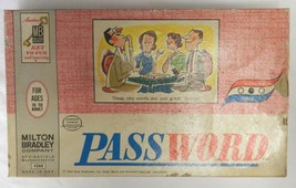 Milton Bradley Password Board Word Card Game Vol 3 Collectible Vintage 1963 - $24.47