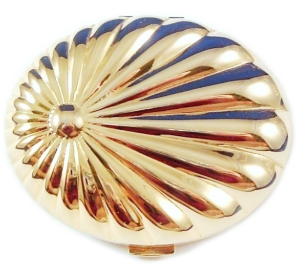 Primary image for Mirror & Powder Compact Shell Design Goldtone