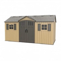 Lifetime 15x8 Plastic Shed Kit w/ Double Doors - Beige [60234] - $2,092.30