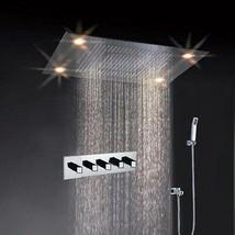 "31"" Large Rain Shower Set Faucet Double Waterfall Shower Super LED Shower Heads - $2,019.57"