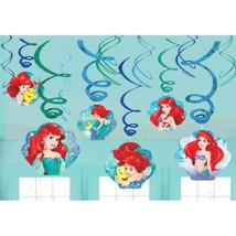 Ariel Dream Big 12 Ct Swirl Decoration Value Pack Birthday Party Mermaid - $7.49