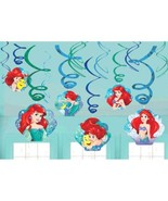 Ariel Dream Big 12 Ct Swirl Decoration Value Pack Birthday Party Mermaid - $7.12