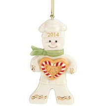 Lenox 2014 Gingerbread Man Ornament Annual Christmas Peppermint Love Bak... - $34.15