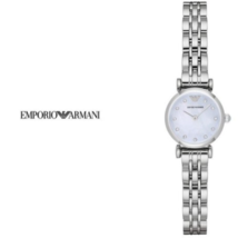 Emporio Armani AR1961 Glamour Steel 22mm Silver Analog Quartz Wrist Watch Women - £437.84 GBP