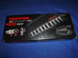"TEKTON WRN-57091 Flex Ratcheting Combination Wrench Set, 13-Piece (1/4-1"") NEW - $160.87"