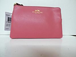 Coach Crossgrain Leather Corner Zip Wristlet DAHLIA F53429 NWT LQQK  - $38.56
