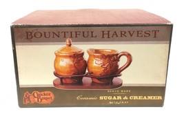 Cracker Barrel 'Bountiful Harvest' Creamer & Covered Sugar Bowl In Stand... - $29.99