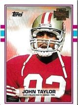 2001 Topps Archives John Taylor San Francisco 49ers #57 Football Card - $1.97
