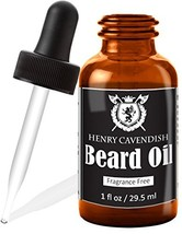 Henry Cavendish Beard Oil and Leave In Conditioner. With Organic Jojo, Sunflower