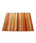 "6'6""x9'10"" Multi Stripe Desire Gabbeh 100% Hand Knotted Woolen Area Rugs... - $935.55"